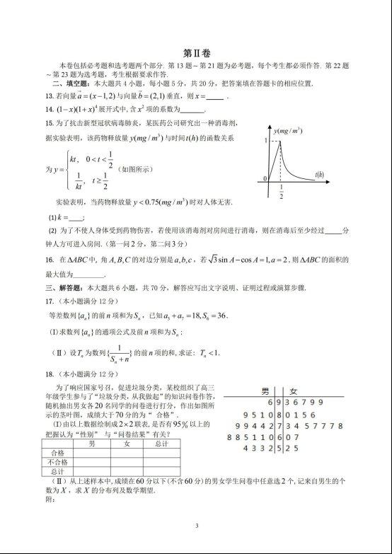 2020届陕西省咸阳市高三数学(理)线上模拟试题二_02