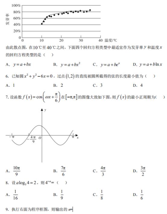 2021安徽高考文科数学测试题