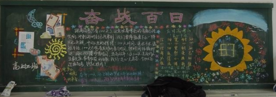 关于高考励志的黑板报设计图片_高三网