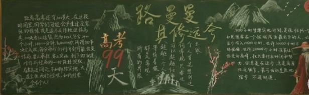 高三高考勵志黑板報版面設計