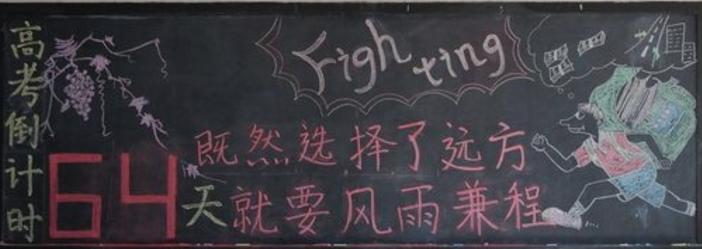 高三高考励志黑板报版面设计