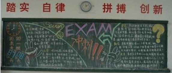高考励志语段出黑板报_励志高考的黑板报素材