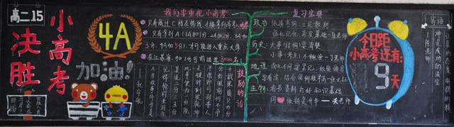 备战高考励志板报版面设计图
