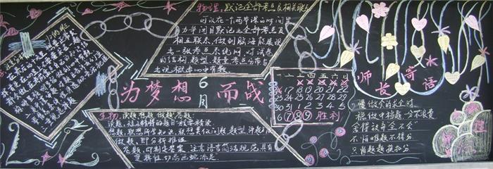 高考励志板报设计图 关于励志高考的黑板报