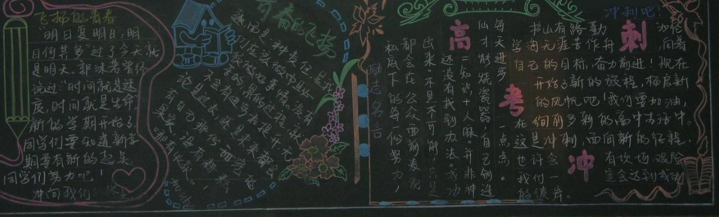 励志备战高考的黑板报_关于励志高考的黑板报图片