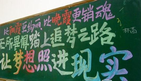 主题为高考励志的黑板报图片