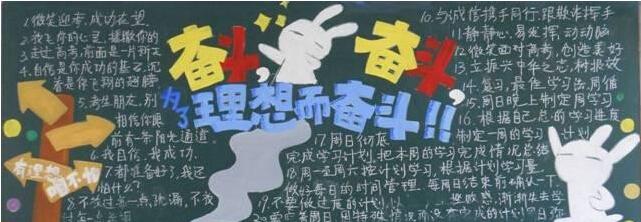 与高考励志有关的黑板报图片