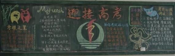 高三高考勵志黑板報設計圖片