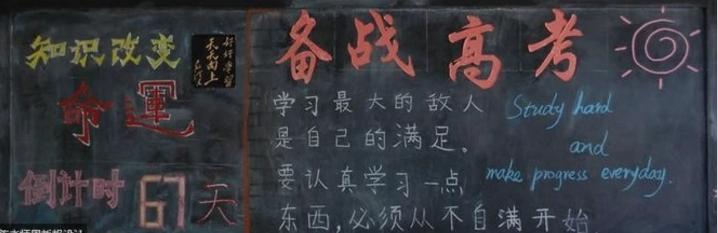 高三励志狠的手机壁纸-高考黑板字样图