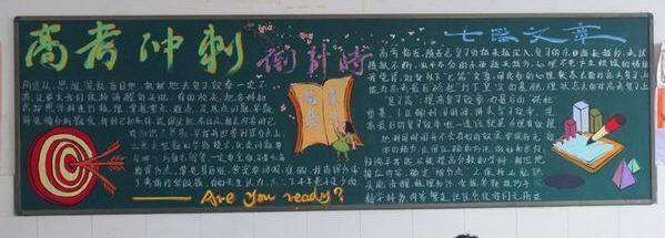 高考励志黑板报图片大全