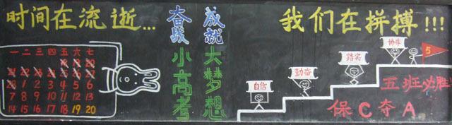 高考励志黑板报_有关高考励志的黑板报图片