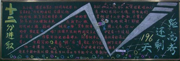 备战高考励志板报_关于高考励志的黑板报_高三网