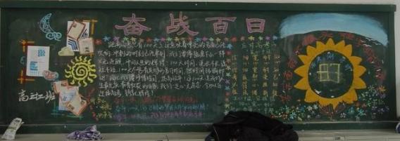 高三高考勵志黑板報版面設計圖