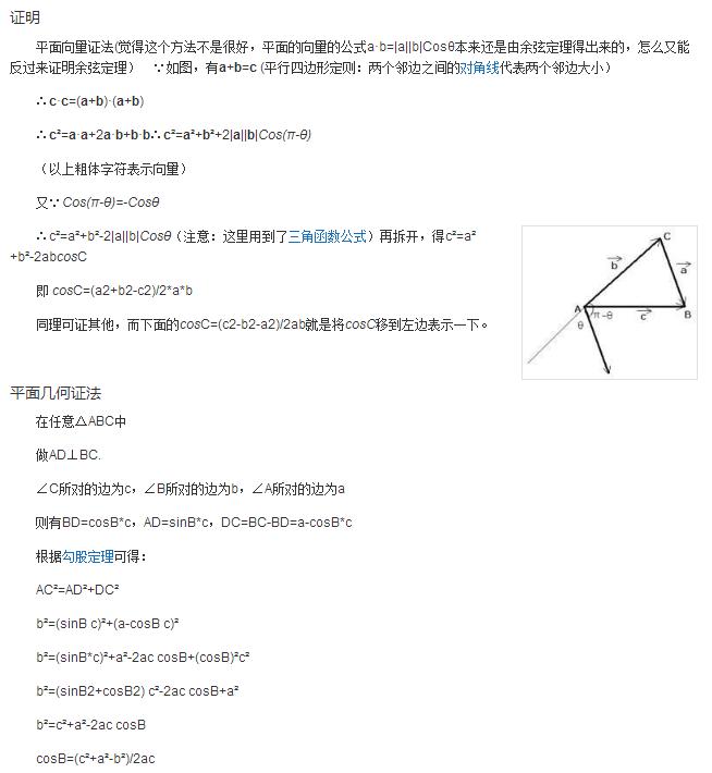 定理 公式 正弦
