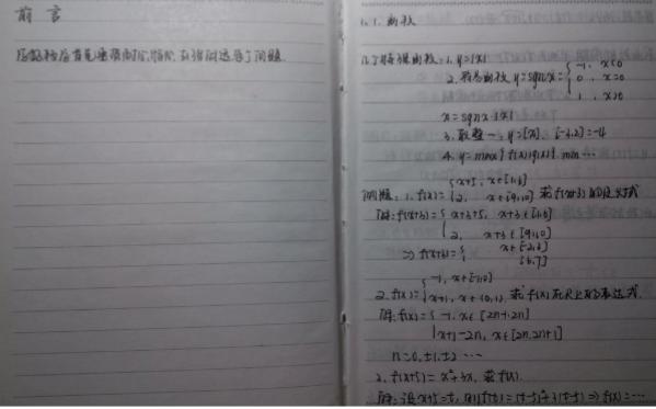 高中数学学霸笔记整理图片