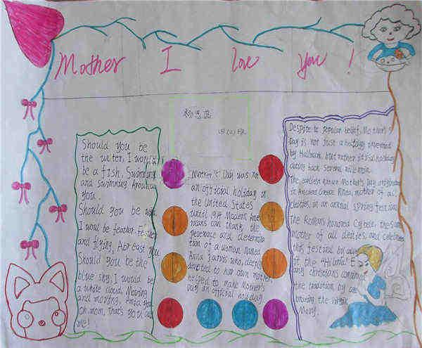 母亲节手抄报版面设计图片