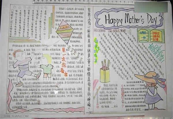 母亲节手抄报图片:内容资料推荐