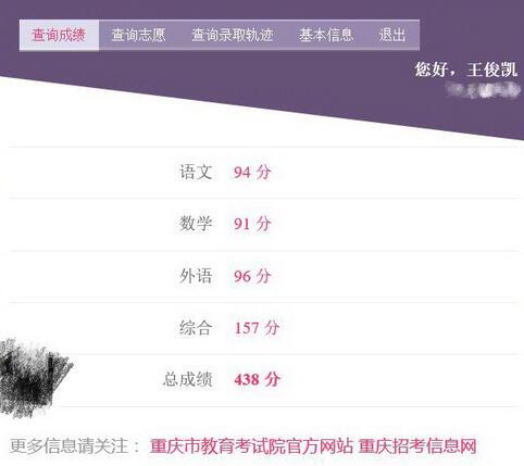 王俊凯高考成绩438分【最新公布】