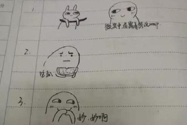 南京一表情v表情要求用学生画大学心情炸了的馆长表情包金甩头图片