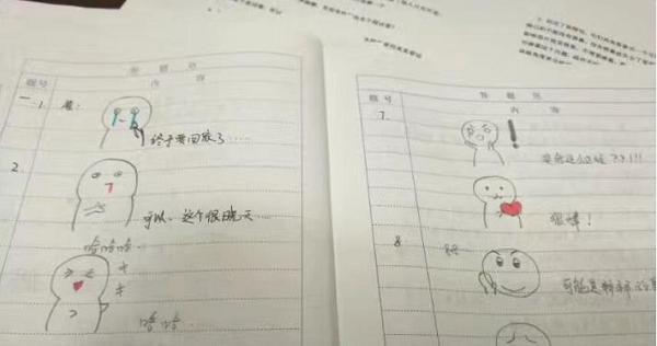 南京一表情v表情要求1用学生画大神心情炸了污大学搞笑图片p图图片