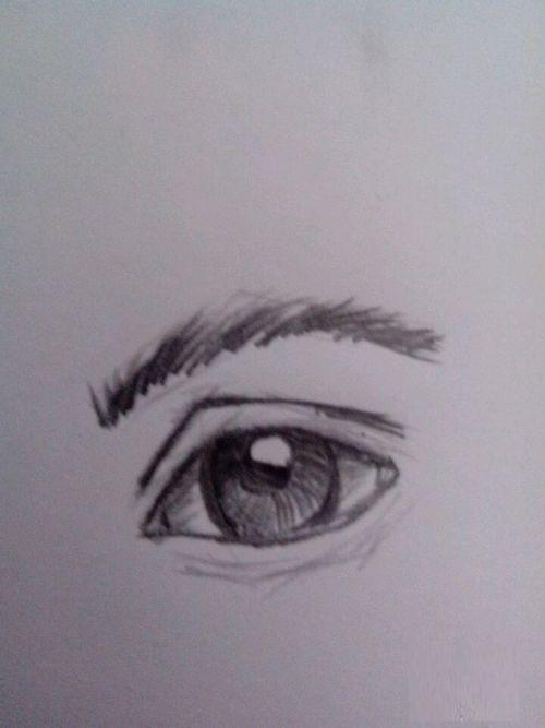素描眼睛画法步骤图片 初学者如何画眼睛图片