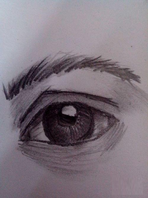 素描眼睛画法步骤图片 初学者如何画眼睛