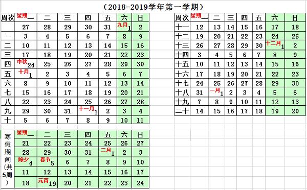 2019华东交通大学寒假放假时间安排