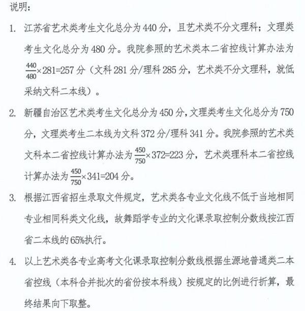 川音2018省外艺术类本科各专业文化课分数线