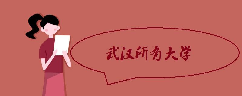 武汉所有大学