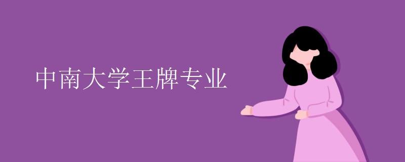中南大学王牌专业