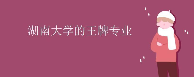 湖南大学的王牌专业