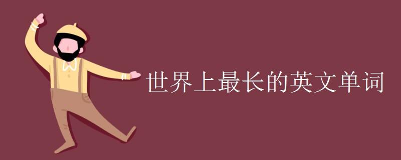 世界上最长的英文单词