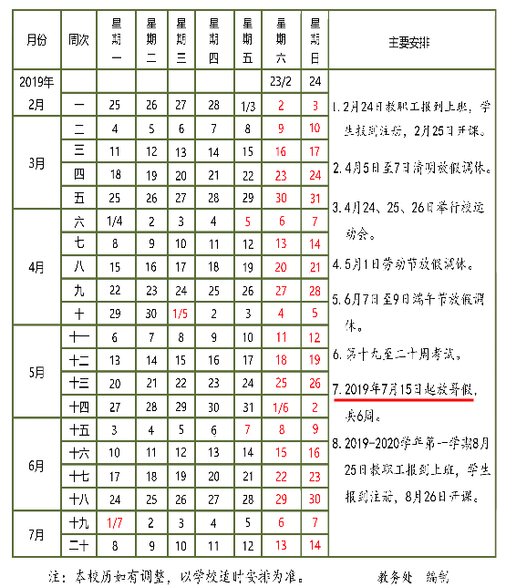 2019青海民族大学什么时候放暑假
