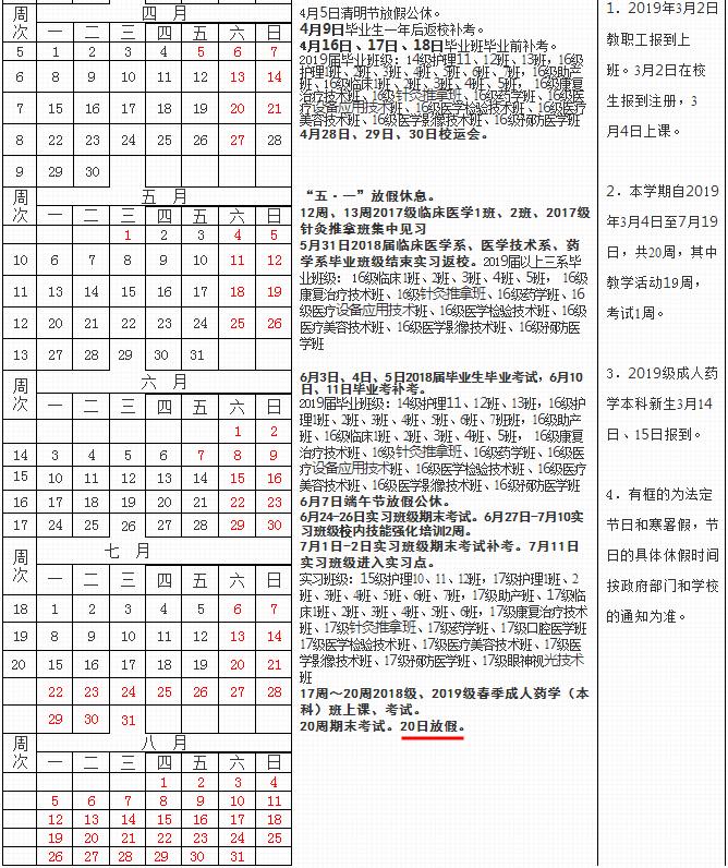 2019青海卫生职业技术学院什么时候放暑假