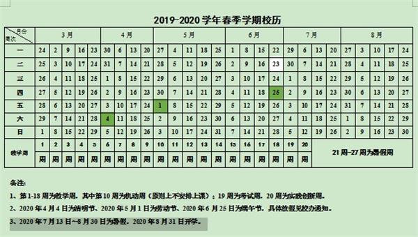 2019华北理工大学暑假放假时间安排