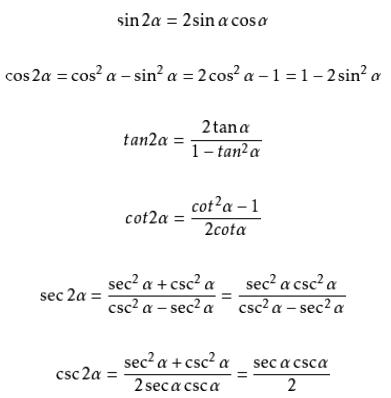 二倍角公式