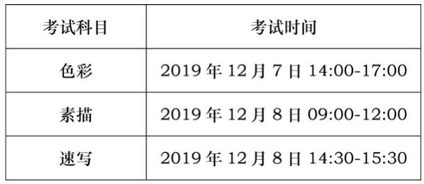 2020年四川艺术类考试时间