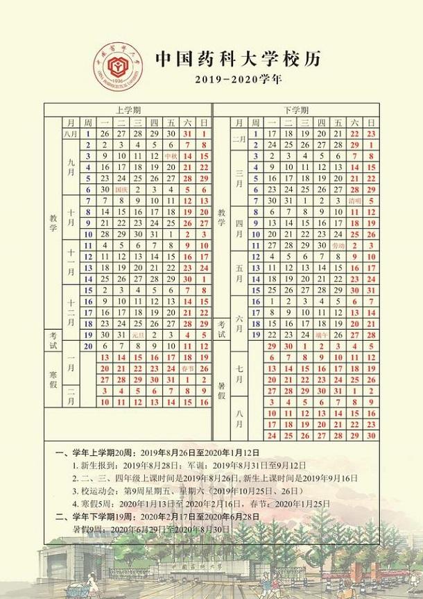 中国药科大学寒假放假时间