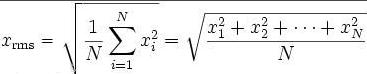 均方根平均值计算方法