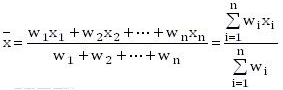 加权平均值算法