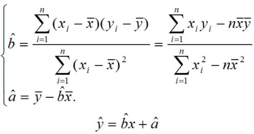 高二数学期末复习:线性回归方程公式