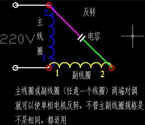 物理考试必备:两相电机电容接法