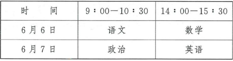 2020年黑龙江体育单招考试时间及科目