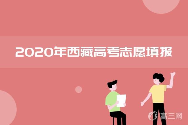 2020年西藏高考内地西藏班(校)征集志愿填报时间