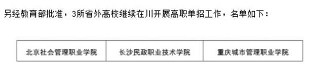 2021四川高职单招院校名单
