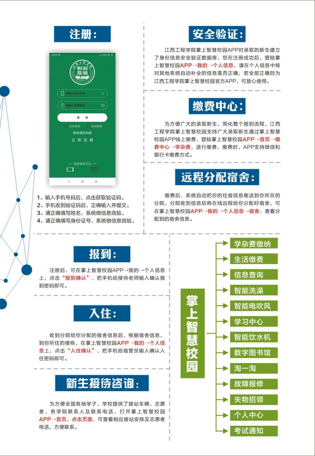 2021年江西工程学院迎新系统 报到流程及入学须知